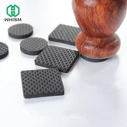 WHISM черные самоклеющиеся мебельные чехлы для стульев, ножных подушек, крышек, напольных покрытий для стола 20-90 мм, квадратные круглые Нескол...