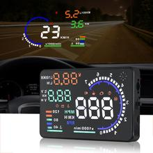 цены Adeeing A8 Universal 5.5in Car HUD Head Up Display OBDII Speed Warning Fuel Consumption Automobile Car Alarm System Accessories