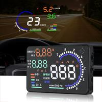 Adeeing A8 Universal 5.5in Car HUD Head Up Display OBDII Speed Warning Fuel Consumption Automobile Car Alarm System Accessories