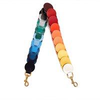 Fashion Colorful RAINBOW Shoulder Strap Quality Leather Strap You Ladies Handbag Straps Large Big Strap Bag Belts Bag Parts
