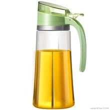 Усиленная стеклянная бутылка для оливкового масла премиум класса 650 мл контейнер для уксуса кухонная бутылка для соевого соуса модная стеклянная бутылка для хранения уксуса