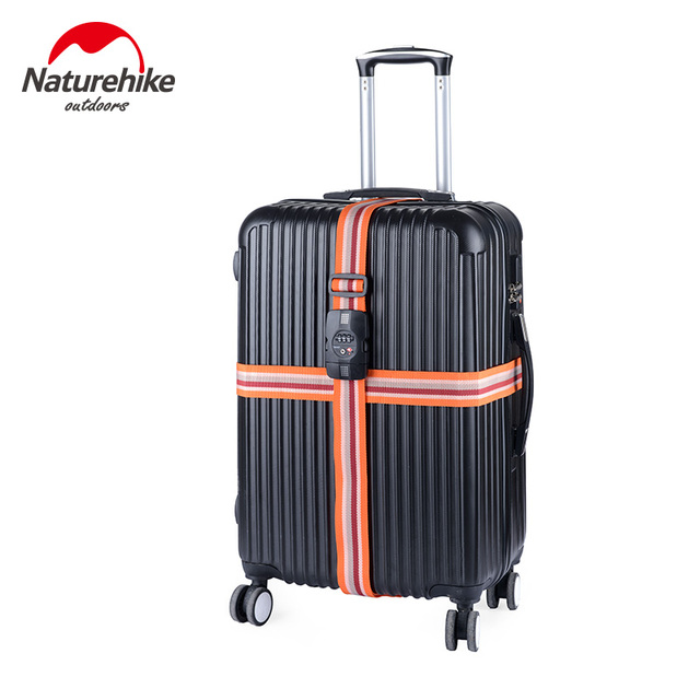 NatureHike Luggage Strap Belt With Lock For Suitcase Cross Safe Secure Travel Protective Customs Password PC Snap Suitcase