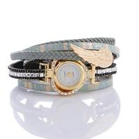 Women S Dress Wristwatches Heart Angel Wing Pendant Luxury Women Diamond Watch Girls Casual Bracelet Watches