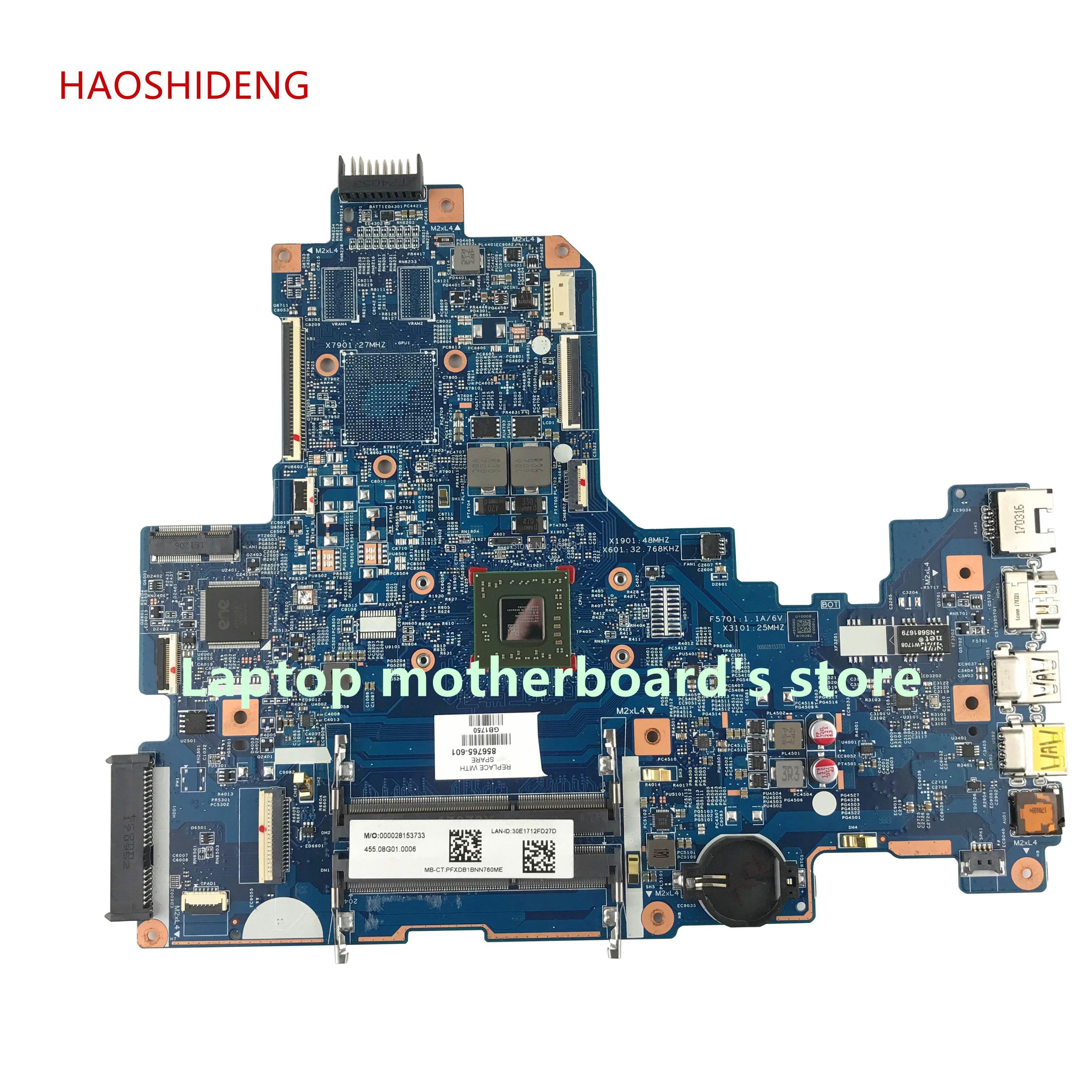HAOSHIDENG 856765-601 856765-001 448.08G03.0011 carte mère Pour ORDINATEUR PORTABLE HP 17-Y 17Z-Y 17-Y088CL ordinateur portable carte mère avec A8-7410