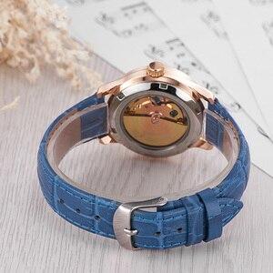 Image 3 - OUYAWEI montre bracelet en cuir pour femmes, mécanique automatique, avec cadran diamant, montre pour femme