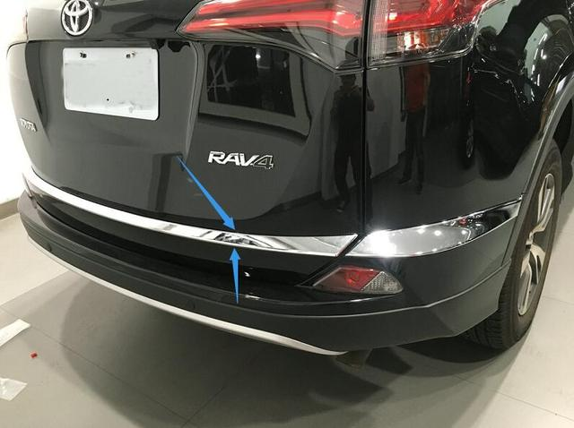 Auto rear door trim,tail trunk trim for Toyota RAV4 2016,auto chrome accessories
