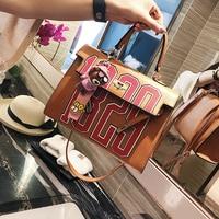 2017 Summer New Fashion Women's Handbags Korean Version Fashion Kally Bag Letters Bag Shoulder Bag Portable Messenger Bag