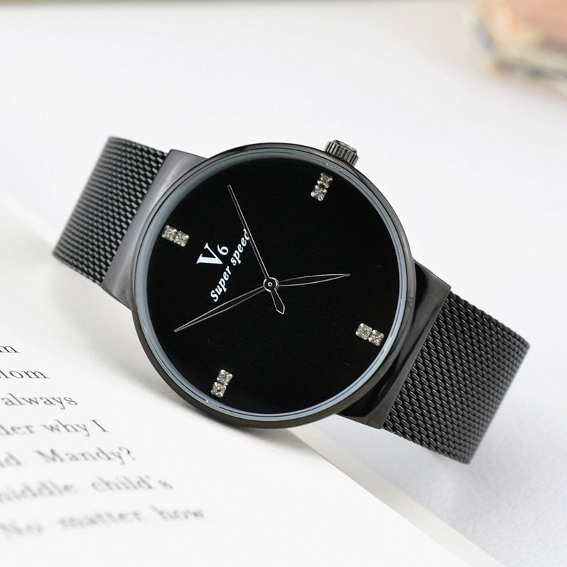 2018 v6 Super Slim Sliver Mesh Stainless Steel Watches Women Top Brand Luxury Casual Clock Wrist Watch Lady Man Relogio Feminino sk super slim sliver mesh stainless steel watches women top brand luxury casual clock ladies wrist watch lady relogio feminino