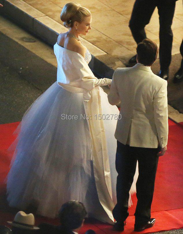 Luxus Gracia Patricia von Monaco Nicole Kidman brautkleid kristalle ...