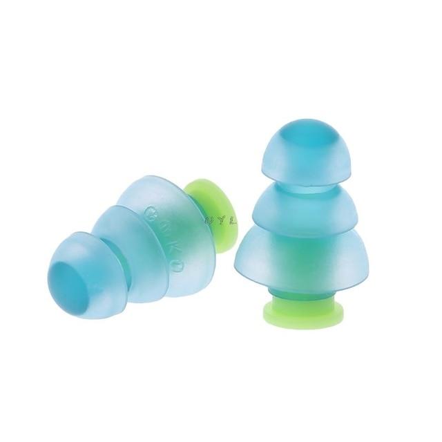 Силиконовые затычки для ушей, 1 пара, шумоподавление, многоразовые беруши для защиты слуха, новейшие