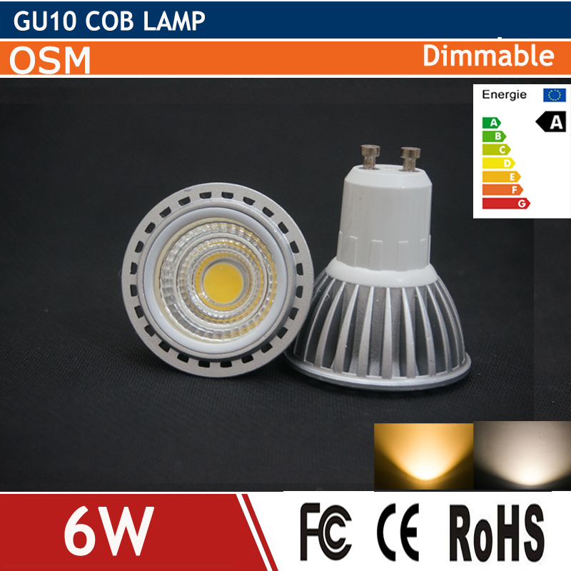 2016 new dimmable led gu10 cob energy saving gu 10 spot lamp 2700k 6w bulb light replace halogen. Black Bedroom Furniture Sets. Home Design Ideas