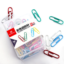 100 Pcs/Pack Colored Paper Clips Book Binder School Papercli