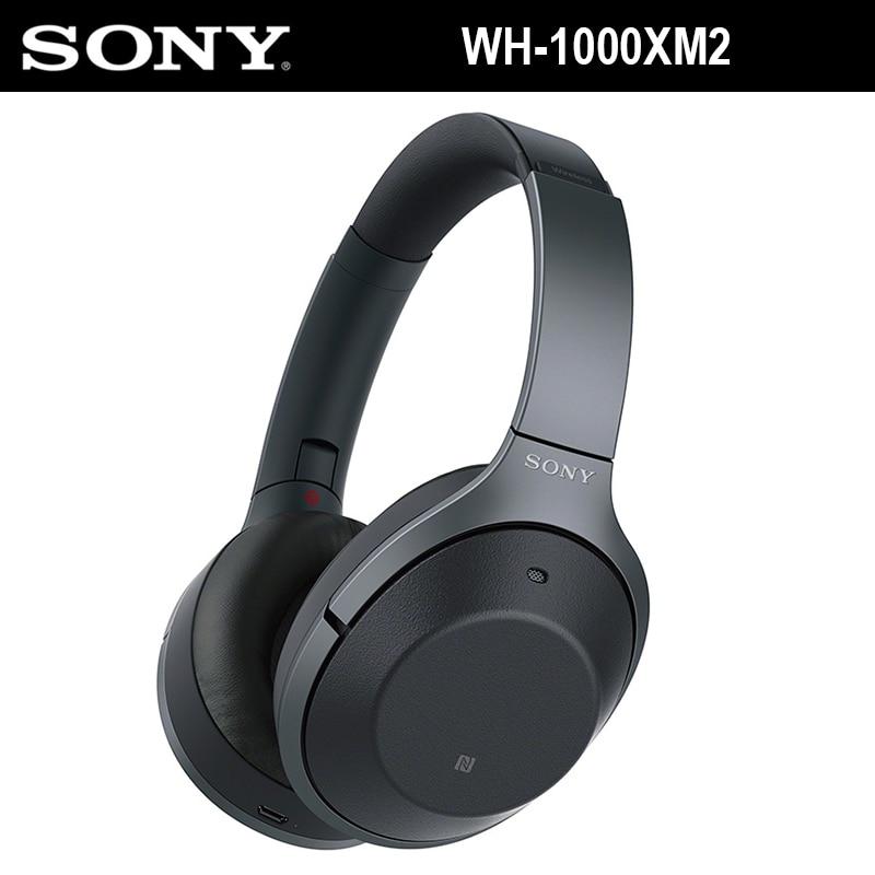 SONY WH-1000XM2 A Cancellazione di Rumore Cuffia Senza Fili di Bluetooth di Alta Qualità Audio Chiamata Hands-Free Headset Fold Caso Portatile NFC