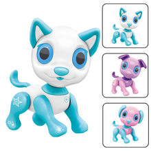 New Smart Robot Dog Electronic Walking Toys With Music Light Interactive Smart Puppy Dog LED Eyes Feeding Function Cute Toy(China)