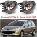 For PEUGEOT 307 SW (3H)2003+2010year Front bumper light Original Fog Lights lamp Halogen car styling .1SET.OEM620639-6206E1