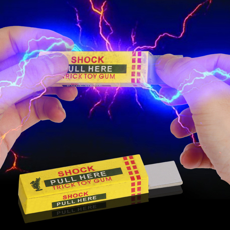 New Electric Shocker Safety Trick Practical Joke Fantastic Toy Chewing Gum Safety Trick Joke Toys Fantastic Aniti-stress Fun Toy