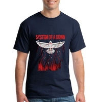 System Of A Down SOAD T Shirt EAGLES OVERCOME ROCK METAL MUSIC Men Short Sleeve T