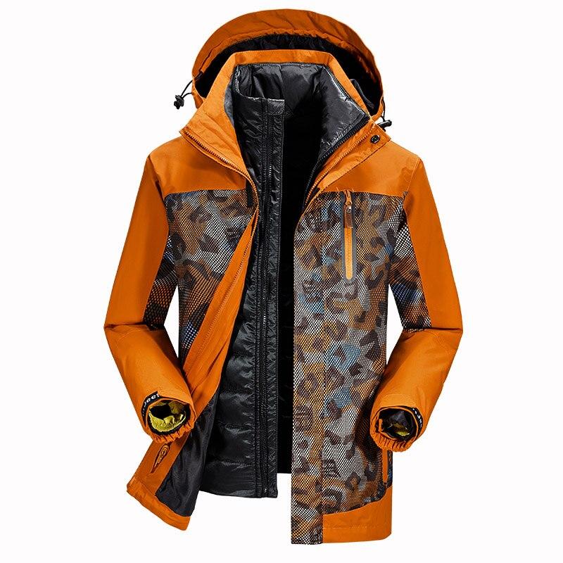 -40 Degrees Winter Jacket Men Big Size Hooded Duck   Down   Jacket liner detachable waterproof windbreaker afs jeep   down     coat   men