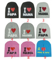 9 Pieces High Quality I LOVE PAPA MAMA Print Baby Hats Knitted Warm Cotton Beanie Hat Toddler Baby Kids Girl Boy Cute Kid Cap