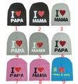 9 unidades de la alta calidad me encanta PAPA MAMA impresión sombreros del bebé del algodón caliente de punto Beanie sombrero niño bebés y niños chica chico lindo del casquillo del cabrito