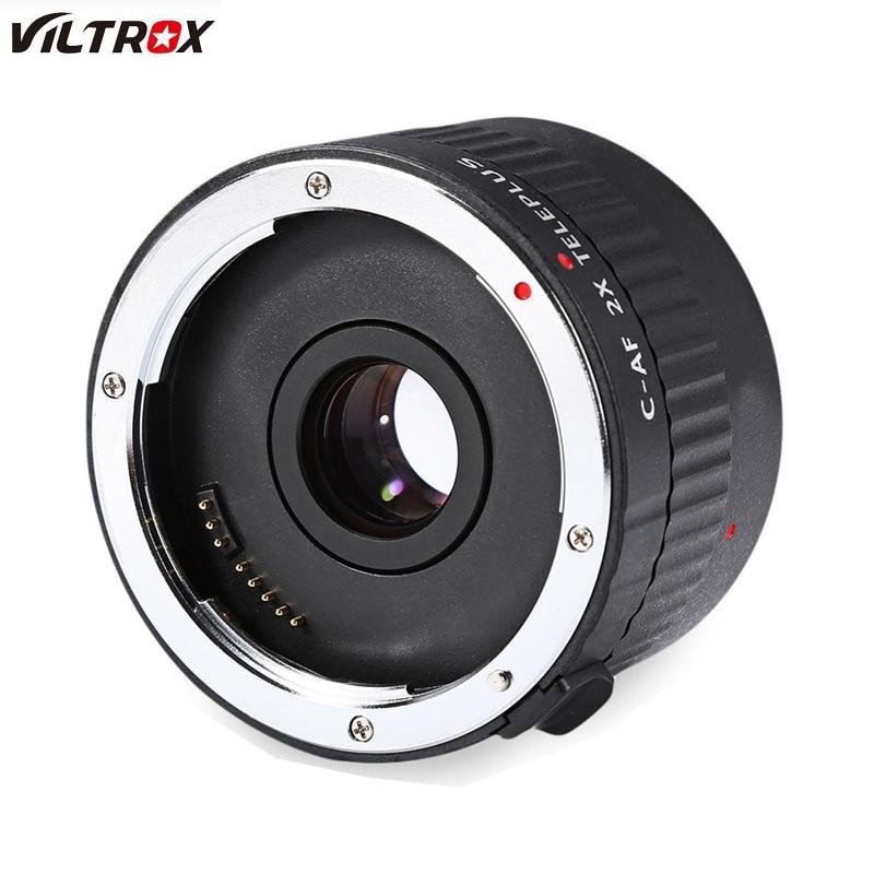 Viltrox C-AF 2X Magnification Teleplus Teleconverter autofocus Mount Lens For Canon EOS EL Lens viltrox 1 4x teleplus auto focus teleconverter extender telephoto converter for canon eos