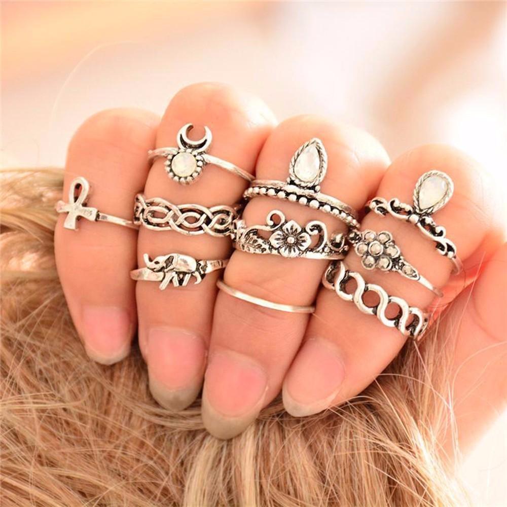 HTB1NevVNpXXXXXdXFXXq6xXFXXXU 10-Pieces Unique Vintage Carved Spirituality Knuckle Ring Set For Women - 2 Colors
