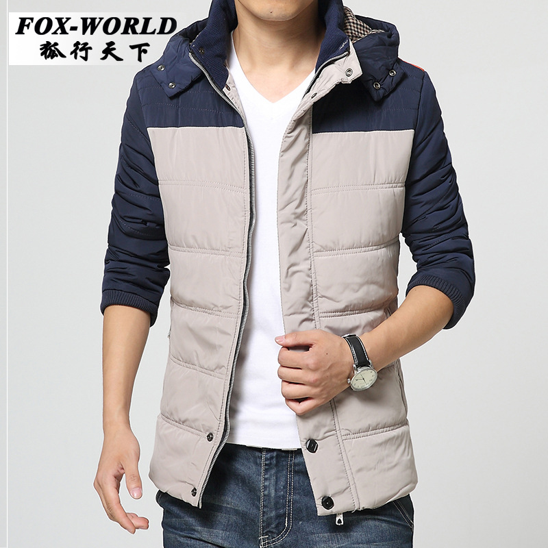 Hot Sale Men Casual Warmer Jackets Solid Thin Breathable Winter Jacket 2015 Outdoors Coat Lightweight Plus Size XXXL Parka