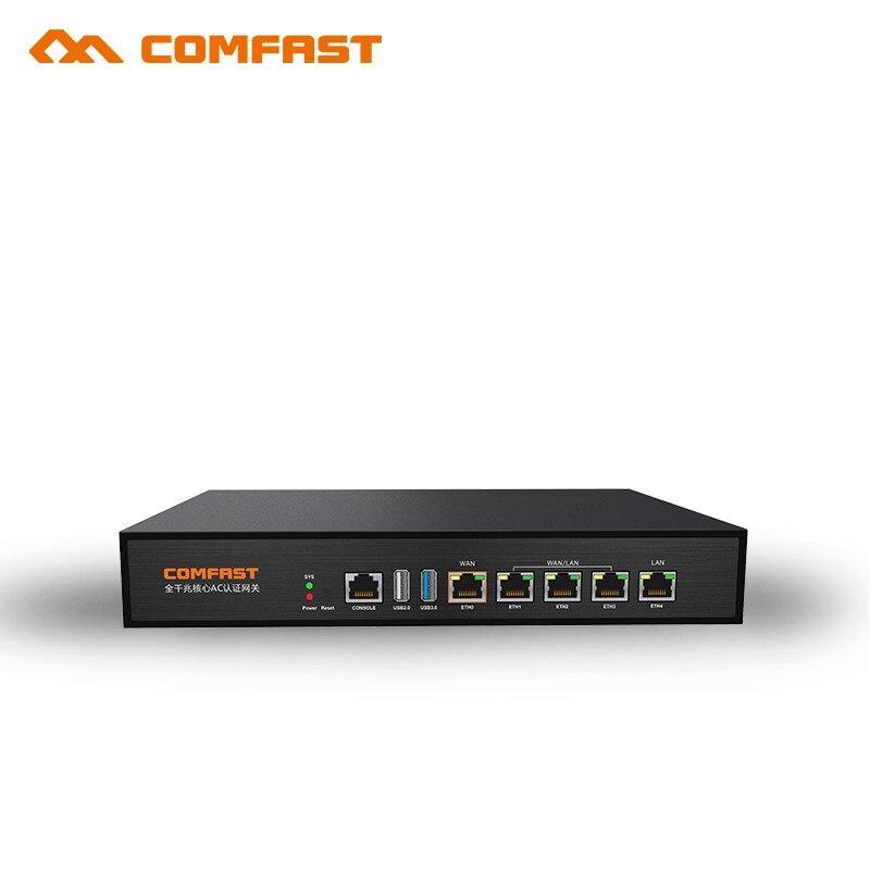 Comfast Gigabit AC аутентификации шлюз маршрутизации MT7621 880 мГц Core шлюз Wi Fi менеджер проекта с 4*1000 Мбит WAN /LAN порт