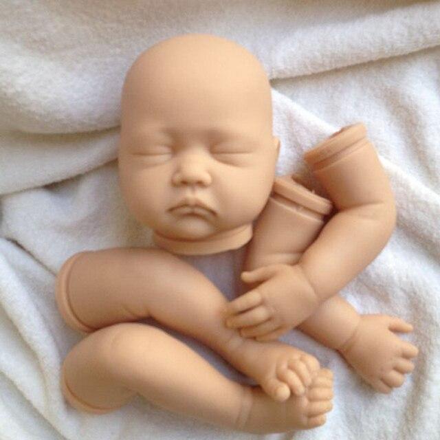 ซิลิโคนไวนิลreborn babyตุ๊กตาชุดแม่พิมพ์ที่ทำด้วยมือชุดตุ๊กตาชิ้นส่วนหัวและ3/4ขาแขนเด็กวัยหัดเดินอุปกรณ์แขนขาและหัว