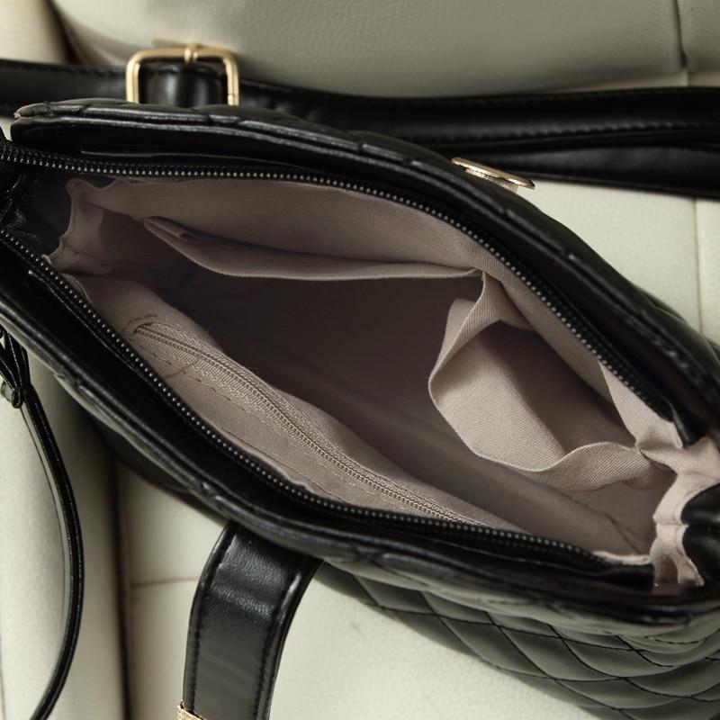 Qualità Modo Multi Nero Plaid Dell'unità Lampo Borsa Alta bianco Cuoio Apertura Di colore Body Bag Lusso Delle Hasp Marca Rosa Della Chiusura Borse Il Cross funzione Messaggio Elaborazione Donne nRwZRxa