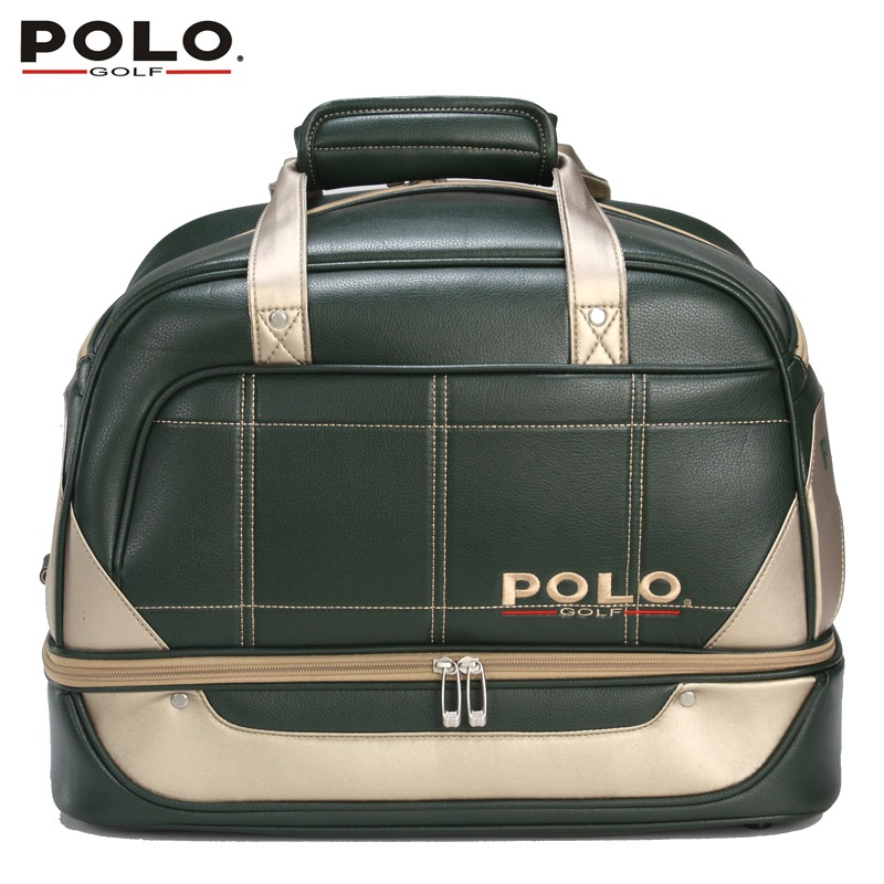 Brand POLO Double Clothing and Shoes Bag Package Pu Waterproof Travel Bag Women Bolsas Zapatos Men Golf Apparel Bag Black Green