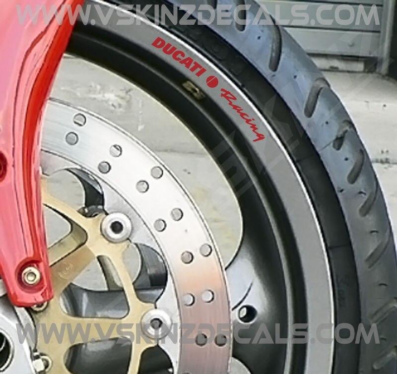 2x Ducati Logo Premium Cast Fork Decals Stickers Supersport Panigale Multistrada