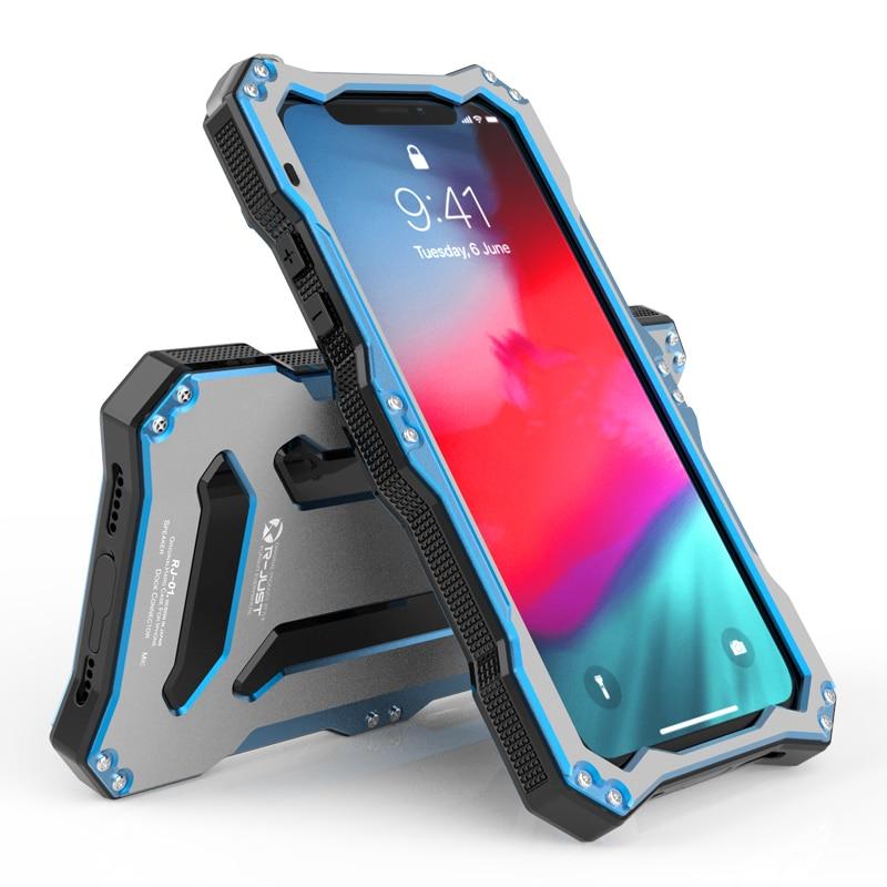 Original Gundam Armor Metal Aluminum Case For iPhone XS XS MAX XR Waterproof 360 Full Protection