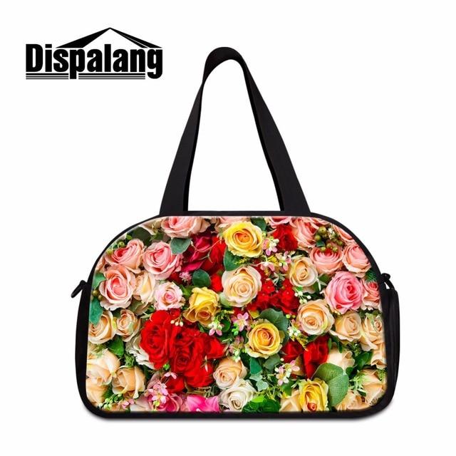 Dispalang Flower 3D Print Large Travel Tote for Women Ladies journey bags  online Big Floral Pattern 102f5bd087cbf