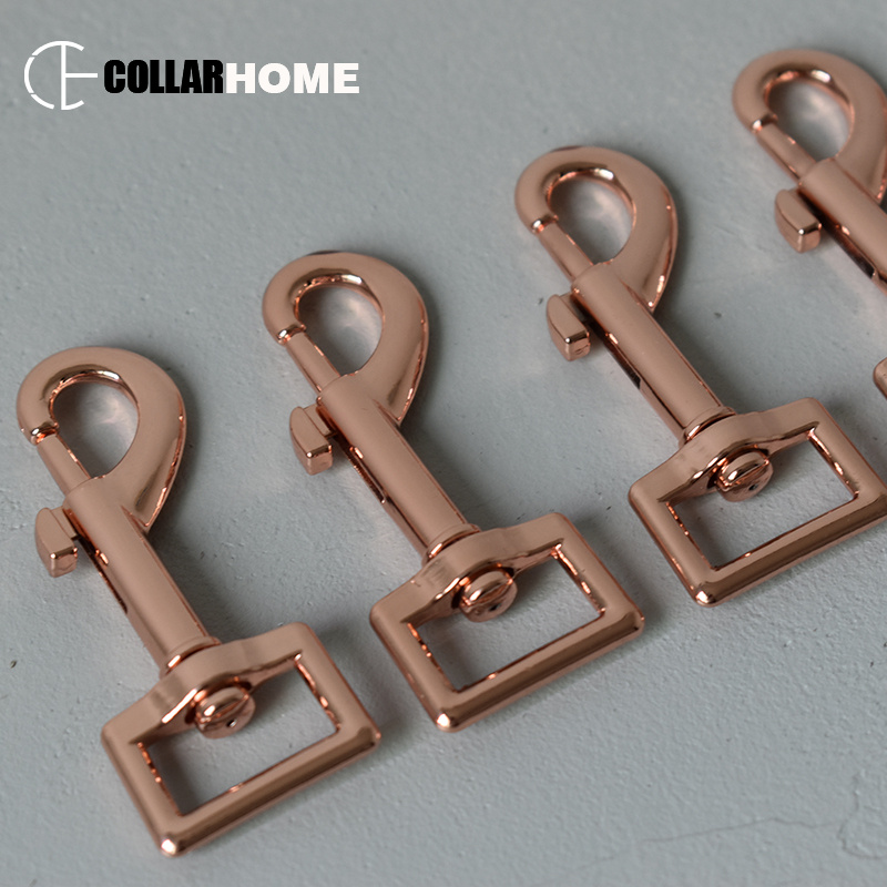 Swivel Clips Snap Hook Leash- 3//4/'/' Silver or Rose Gold color 20mm 5,25