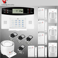 YoBang Security Voice Tip Wireless Door Sensor GSM SMS Home Alarm Security System Spanish Russian Ltalian Voice+Wireless Alarm .