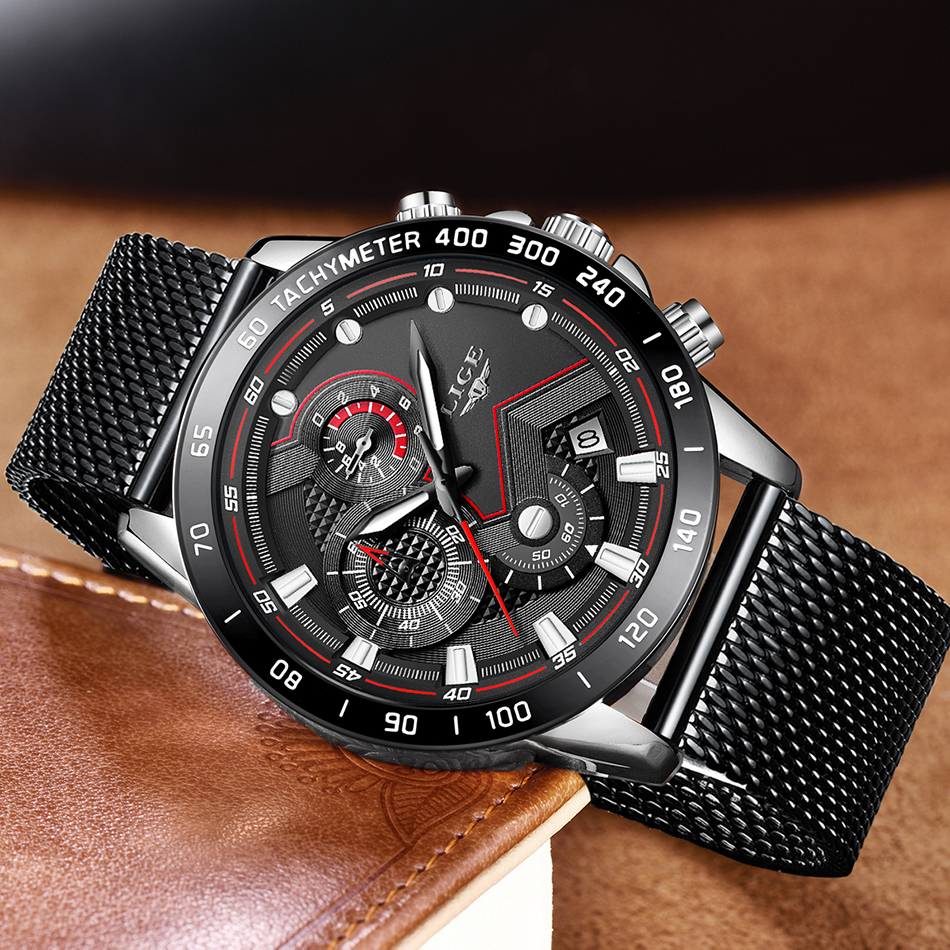 HTB1New OkvoK1RjSZFwq6AiCFXaM LIGE Men Watches Top Brand Luxury Stainless Steel Blue Waterproof Quartz Watch Men Fashion Chronograph Male Sport Military Watch