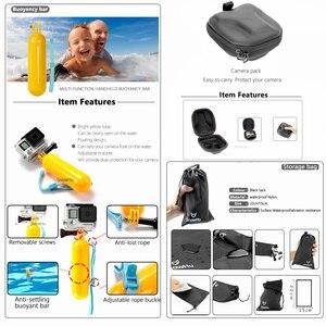 Image 5 - SnowHu Per Gopro accessori set per go pro eroe 8 7 6 5 4 kit 3 modo selfie stick per eken h8r/per xiaomi per yi caso di EVA GS98