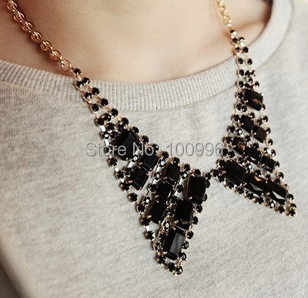 New Arrival Korean Fine Jewelry Gold Plated Brass Black