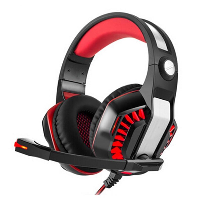 bilder für Professionelle Gaming PS4 Verdrahteter Kopfhörer Gamer Kopfhörer Mit Mikrofon LED Rauschunterdrückung Kopfhörer für Computer PC