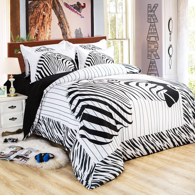 Online Buy Wholesale zebra twin bedding from China zebra