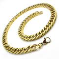 Wholesale Price Men's Huge Golden Twist 316L Stainless Steel Fashion Necklace Chain Free Shipping