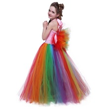 Cute Girls Little Horse Unicorn Birthday Dress for Children Girls Unicorn Tutu Dress Rainbow Princess Pony Christmas Party Dress children girl rainbow tutu dress princess little horse tutu dresses little girls dress up fancy tutus baby clothing christmas