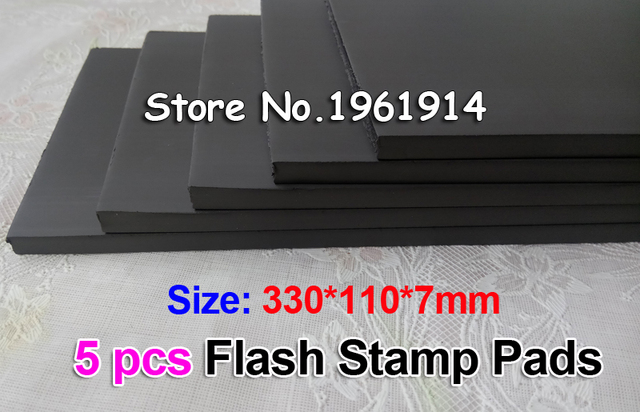 5pcs 330x110x7or4 Mm Flash Stamp Pad Cushion Rubber Plate Materials Photosensitive Self