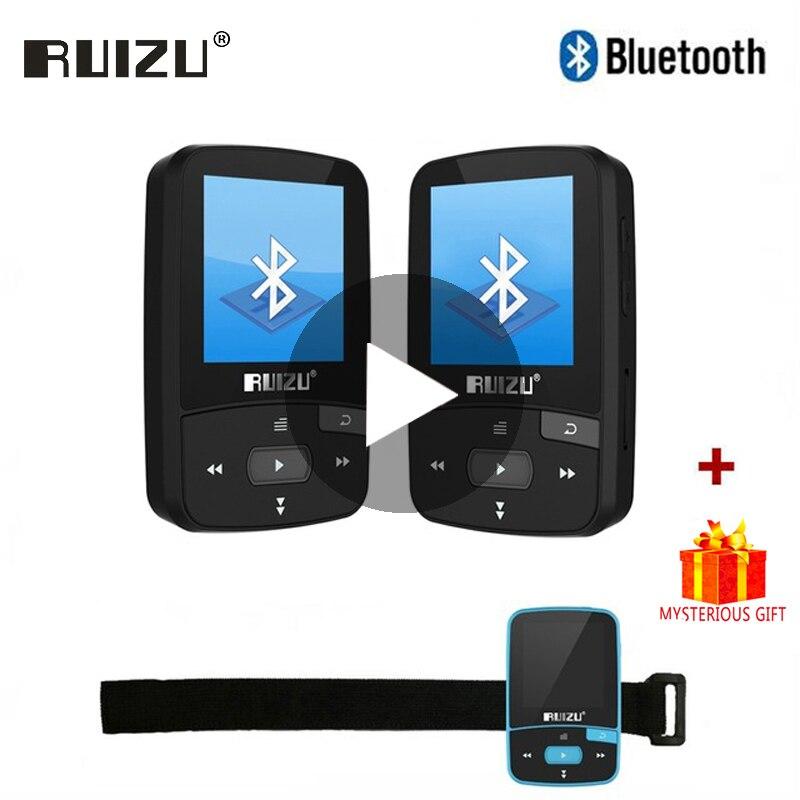 Ruizu esporte de áudio mini bluetooth mp3 player música áudio mp 3 Mp-3 com rádio digital alta fidelidade tela fm flac usb 8 gb lossless