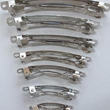 Французские заколки серебряные заколки для волос ремесло ленты лук DIY металлический инструмент 30 шт