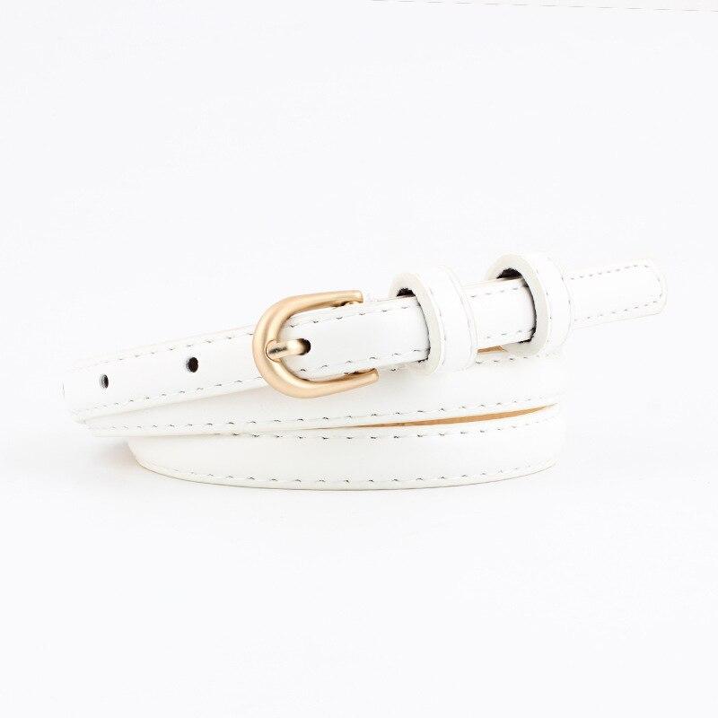 Badinka 2018 New Designer Gold Pin Buckle Narrow Belt Waistband Women Black Red White Faux Pu Leather Waist Belts Cinturon Mujer