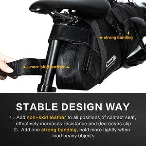 Image 5 - RHINOWALK 자전거 가방 방수 자전거 안장 가방 마운틴로드 사이클링 테일 리어 가방화물 파니에 파우치 자전거 액세서리 12L