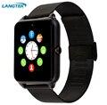 Sincronização do relógio do bluetooth smart watch gt08 langtek notificador sim suporte cartão tf conectividade apple iphone telefone android smartwatch