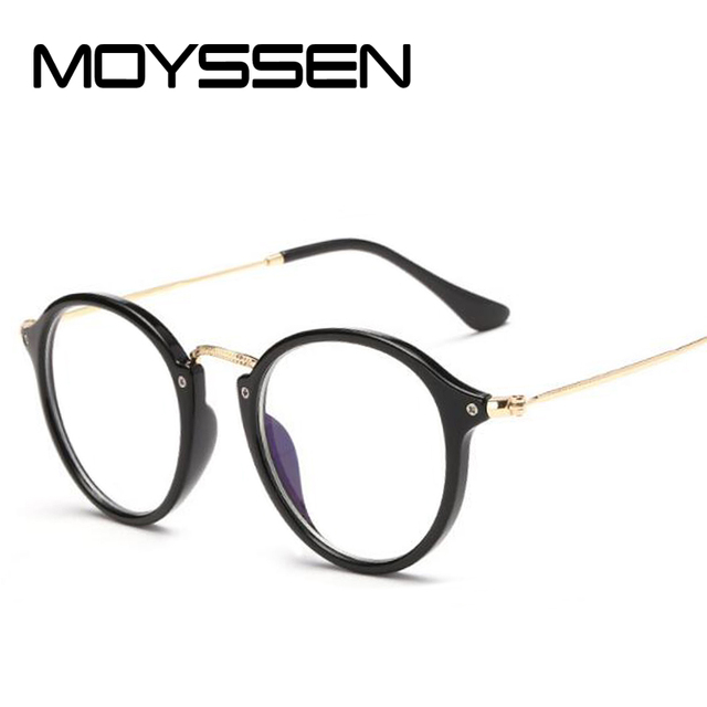 35944ff7409 MOYSSEN High-end Japan Brand Fashion Men Retro Round Computer Prescription  Glasses Frame Women Large